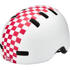 Bell Lil Ripper Helmet Kids matte white/pink check